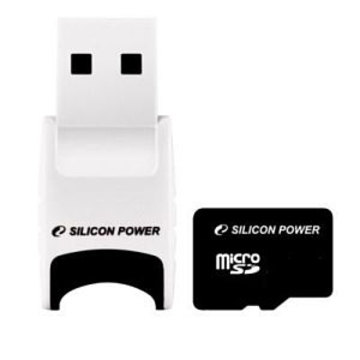 MicroSD 02Гб Silicon Power (USB ридер V81)
