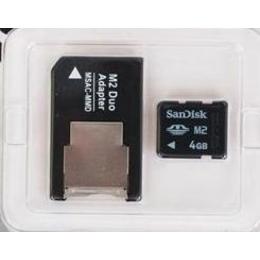 Memory Stick micro (M2) 04Гб Silicon Power (с адаптером)