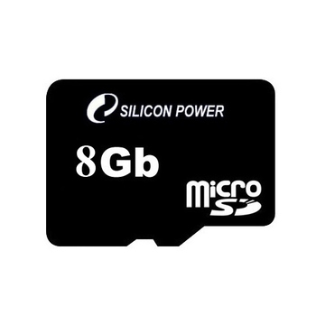 MicroSDHC 08Гб Silicon Power Класс 4 (без адаптера)