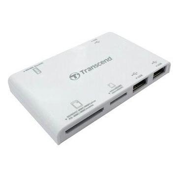 Card reader Transcend P7 White (all-in-1, 3 USB порта)