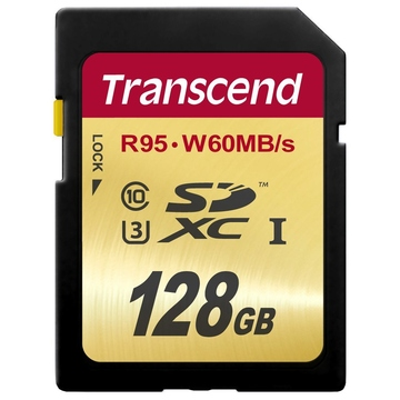 SDXC 128Гб Transcend Класс 10 UHS-I U3