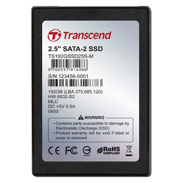 Твердотельный накопитель SSD Transcend 192GB