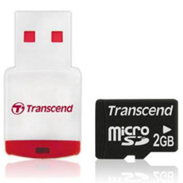 MicroSD 02Гб Transcend (ридер RDP3)