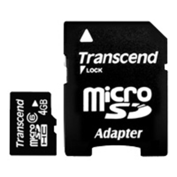 MicroSDHC 04Гб Transcend Класс 6 (адаптер)