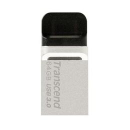 Флешка USB 3.0 Transcend Jetflash 880 64 гб OTG Silver