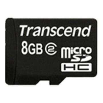 MicroSDHC 08Гб Transcend Класс 2 (без адаптера)