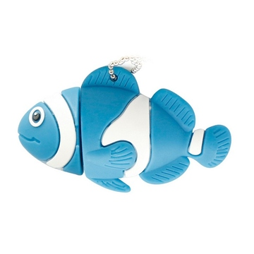 Оригинальная подарочная флешка Present ANIMAL01 128GB Blue (рыбка)