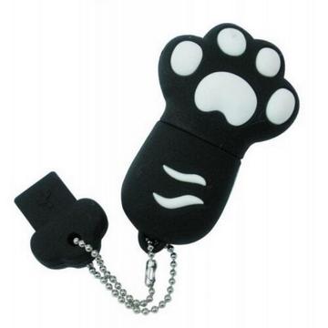 Оригинальная подарочная флешка Present ANIMAL82 08GB Black (кошачья лапка)
