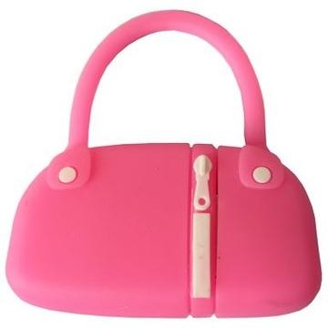 Оригинальная подарочная флешка Present BAG07 08GB Pink (сумка с молнией, без блистера)