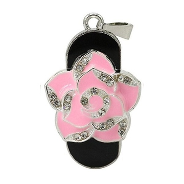 Оригинальная подарочная флешка Present FLW01 256GB Pink (розовая роза)
