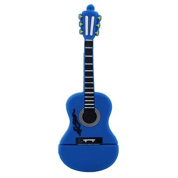 Оригинальная подарочная флешка Present GTR10 08GB Blue (флешка-гитара синяя, без блистера)