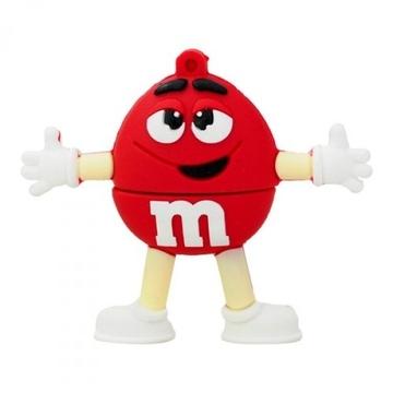 Оригинальная подарочная флешка Present MEN21 08GB Red (фигурка m&m)