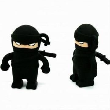 Оригинальная подарочная флешка Present MEN44 16GB Black (ниндзя в черном костюме, без блистера)