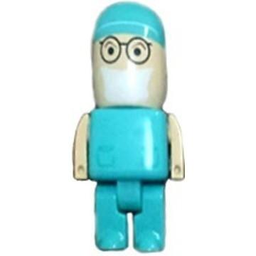 Оригинальная подарочная флешка Present MEN51 128GB Blue (флешка-доктор, хирург)