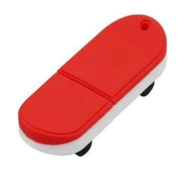 Оригинальная подарочная флешка Present ORIG03 04GB Red White (флешка скейтборд)