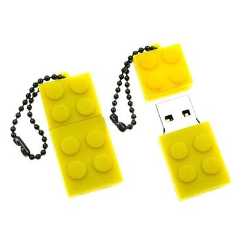 Оригинальная подарочная флешка Present ORIG08 08GB Yellow (флешка-конструктор LEGO, без блистера)