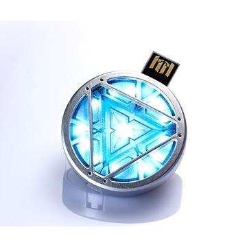 Оригинальная подарочная флешка Present ORIG187 08GB (медальон Iron Man)