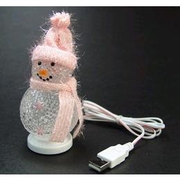 USB-сувенир Снеговик Blue с изменяющейся подсветкой