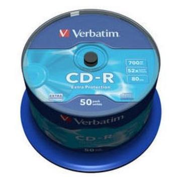 CD-R Verbatim Cake Box 50шт (700MB, 52x, Datalife, 43351)