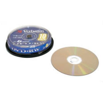 DVD+RW Verbatim Cake Box 10шт (4.7GB, 4x, 43488)