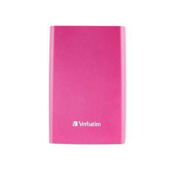 """Внешний жесткий диск 500 gb Verbatim Store""""n""""Go Pink (2.5"""""""", USB3.0, 53025)"""