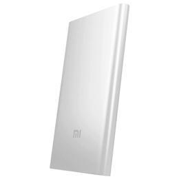 Внешний аккумулятор Xiaomi MI Powerbank Silver (microUSB/USB-выход, 5000mAh)